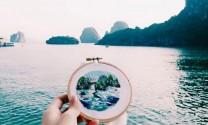 Việt Nam vào tranh thêu du lịch của khách nước ngoài