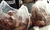 """Phát hiện hơn 30 kg thịt heo """"ngậm"""" chất hàn the"""