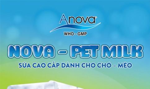 NOVA - PET MILK: Sữa cao cấp dành cho chó - mèo