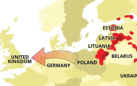 Bản đồ cho thấy sự lây lan của ASF trên khắp châu Âu Ảnh: Express.co.uk