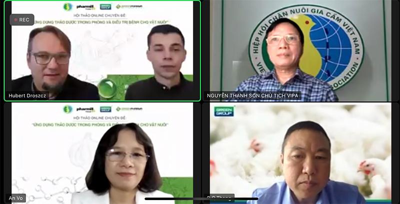 trực tuyến ứng dụng thảo dược trong phòng và điều trị bệnh cho vật nuôi